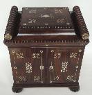 118. Fine Regency Rosewood Mother of Pearl Jewellery Casket 19th Ct