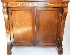 148 Fine Regency Brass Inlaid Rosewood Side Cabinet