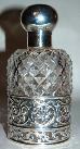 601. London Silver 1903 Hand Cut Crystal