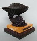 433. Rare Bronze Sienna Inkwell Regency Period Manner Thomas Messenger