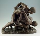 514. Stunning Italian Bronze Sculpture THE WRESTLERS Circa 1860