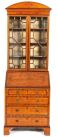867. Fine Early Edwardian Satinwood Inlaid Bureau Bookcase in Sheraton Taste