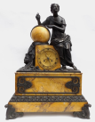 825. Superb Grand Tour Sienna Marble Clock 19Ct