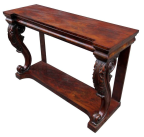 338. Fine William IV Flame Mahogany Console Table Circa 1830