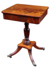 348. Fine Flame Mahogany English Regency Occasional Table Circa 1815