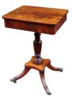 348. Fine Flame Mahogany English Regency Occasional Table Circa 1815