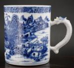 771. Chinese Porcelain Blue and White Dragon Tankard Mug 18thCt