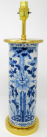 567. Stunning Chinese Blue and White Porcelain Hand Decorated Table Lamp 19thCt