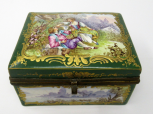 700. French Sevres Porcelain Casket Ormolu Mounts 19th Ct