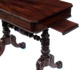 343. Fine Goncalo Alves Games Table Backgammon Cribbage Circa 1820