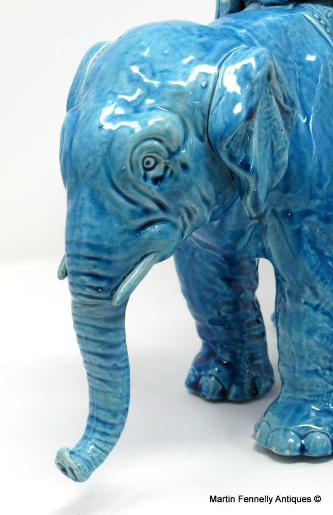 122 Sold Royal Worcester Porcelain Elephant - Circa 1880