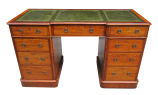 189. Superb Flame Grain Mahogany Early Victorian Twin Pedestal Desk 19thCt