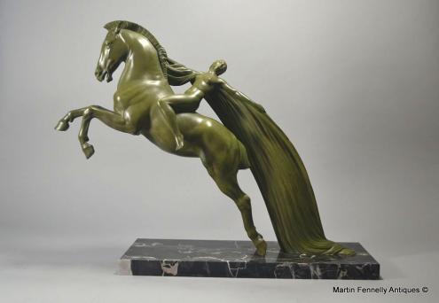 569 Chevauch 233 E By C Charles Art Deco Circa 1930 Bronze