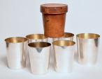 849. Fine Set Silver Gilt Hunting Stirrup Cased Cups by Asprey London 1920