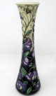 094. Moorcroft Sweet Pea Pattern Large Flower Vase Hand Decorated by Sally Tuffin