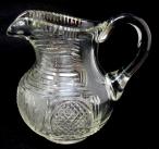 744. Fine Irish Waterford Hand Cut Full Lead Crystal Water Jug Pitcher Circa 1800