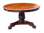 646. Fine Late Regency Well Figured Rosewood Center Table Possibly Irish