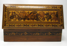 376. Fine Tunbridge Ware Rosewood Micro Mosiac Victorian Glove Box by Edmund Nye 19thCt