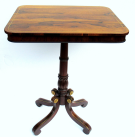 978. Fine Rosewood Brass Inlaid Occasional Table Manner George Oakley early 19thCt