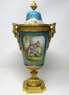 909. Stunning French Sevres Porcelain Gilt Bronze Ormolu Mounted Urn 19th Century