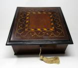 369. Rare Irish Killarney Arbutus Wood Antique Jewelery Casket Box Mid 19th Century