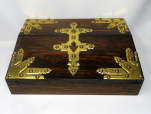 304. Coromandel Writing Slope Box Casket Poss Irish Austins Dublin Mid-19th Century
