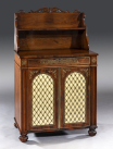 459. Regency Rosewood Brass Inlaid Chiffonier Side Cabinet attrib. Gillows of Lancaster