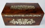 139. Superb Regency Brass Inlaid Rosewood Tea Caddy