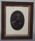 945. Lames Abram Garfield 1831-1881 Bronze Portrait Plaque 19thCt