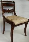 750 Superb Set SIX Brass Inlaid Regency Mahogany Chairs
