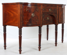 085. Fine Regency Mahogany Bow-Fronted Sideboard manner of Gillows