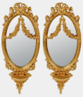 724. Stunning Pair Giltwood Wall Sconces 19thCt