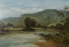 091. Benjamin Williams Leader 1831-1923 Oil on Canvas A HIGHLAND STREAM