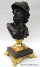325. Attributed to Benedetto Boschetti Fine Bronze of Bust Ajax 19thCt