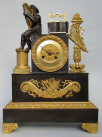 322. Superb Grand Tour French Ormolu Bronze Mantle Clock early 19thCt