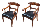 161. Pair of George IV Flame Mahogany Carvers early 19Ct