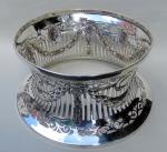 995. Fine Dublin Irsih Silver Dish Ring Dublin 1911 Wakely Wheeler 19.4 ozs