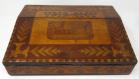 333. Irish Killarney Ware Arbutus Wood Ladies or Gents Travelling Writing Slope 19thCt