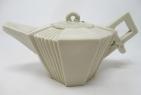 577. Irish Belleek Porcelain Art Deco Teapot Second Period Black Mark 1891-1926