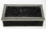 774. Stunning Victorian Anglo-Indian Nagina Carved Eboised Jewellery Casket late 19thCt