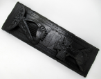 431. Rare Irish Carved Bog Oak Book Slide Attrib. to Cornelius Goggin Dublin Ireland 19Ct