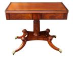 244. Fine Irish Mahogany Fold-over Tea Table by Mack Williams Gibton 1825-1830