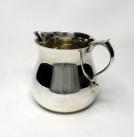 120. Sterling Silver Cream Creamer Milk Jug Pitcher Edward Barnard 372 grams 1979