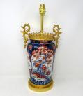 941. Antique Japanese Imari Porcelain Ormolu Table Lamp