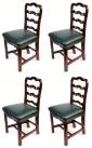 935. Antique Set Four English Georgian Mahogany Ladder Back Dining Chairs