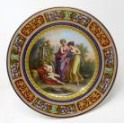 152. Antique Austrian Royal Vienna Mythological Porcelain Hand Painted Cabinet Plate