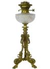 964. Antique French Empire Style Ormolu Gilt Bronze Fluid Oil Lamp Centerpiece 19thCt